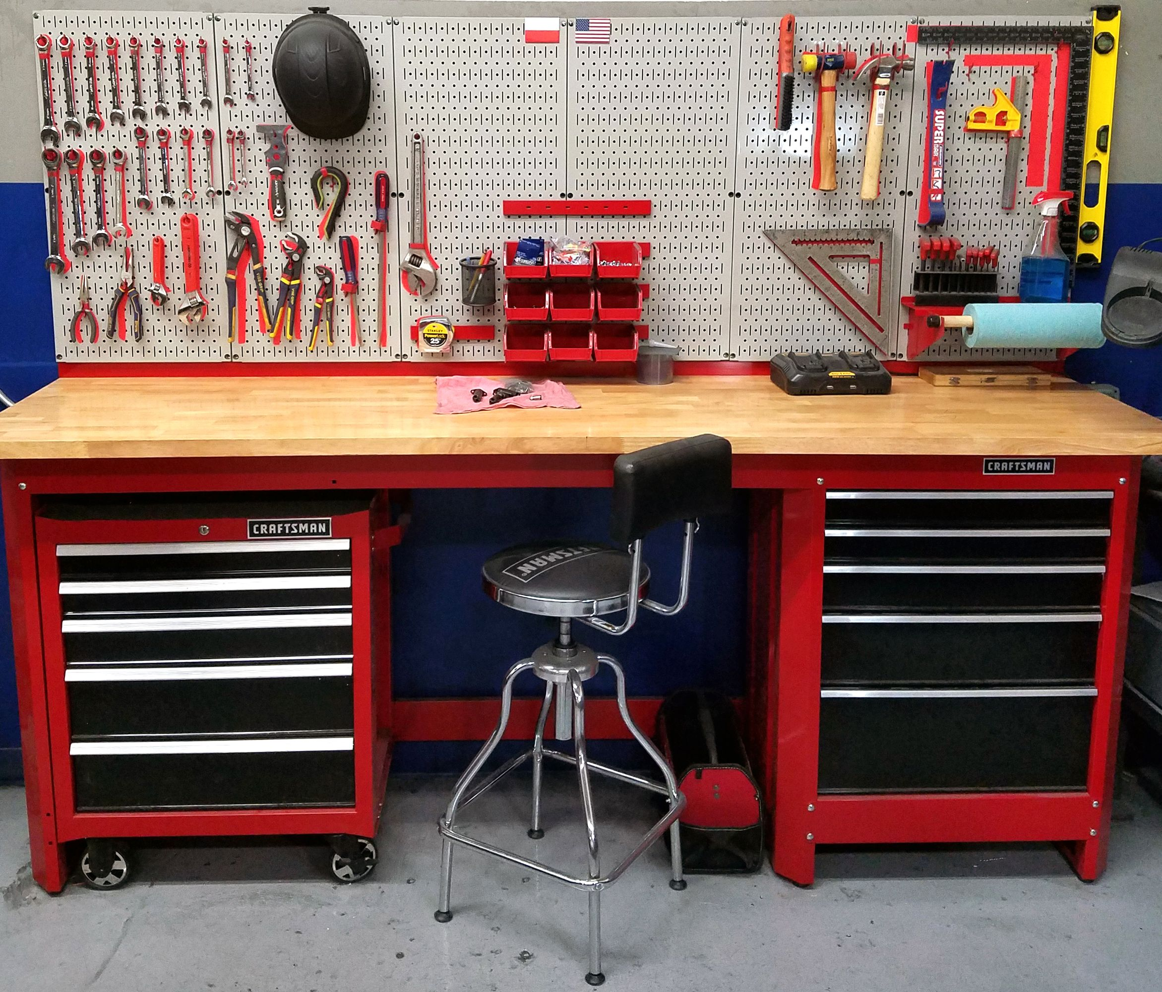 Slate Wall Panels Garage Man Cave Ideas Garage Storage: Wall Control Metal Pegboard Makes Great Shadow Board For