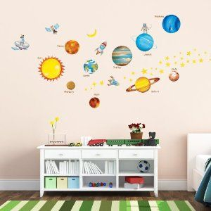 Beautiful Decowall, Planets In The Space Wall Stickers/Wall Decals/Wall Tattoos/Wall  Transfers Images