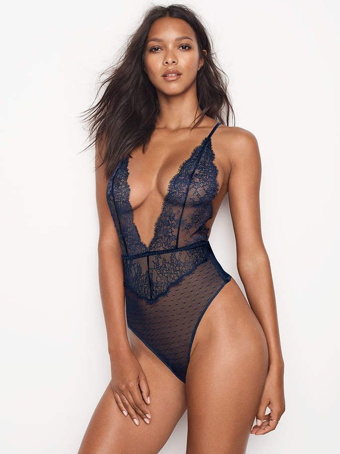 bb754da564 Very Sexy Chantilly Lace Plunge Teddy - afflink