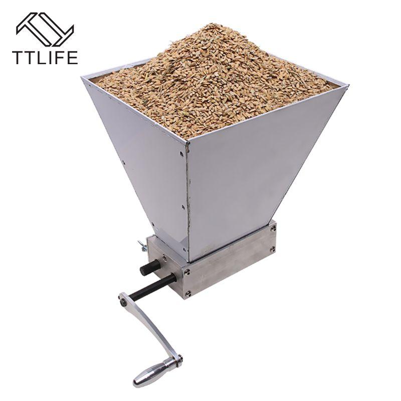 TTLIFE Stainless Steel 2 Roller Homebrew Barley Malt Grinder