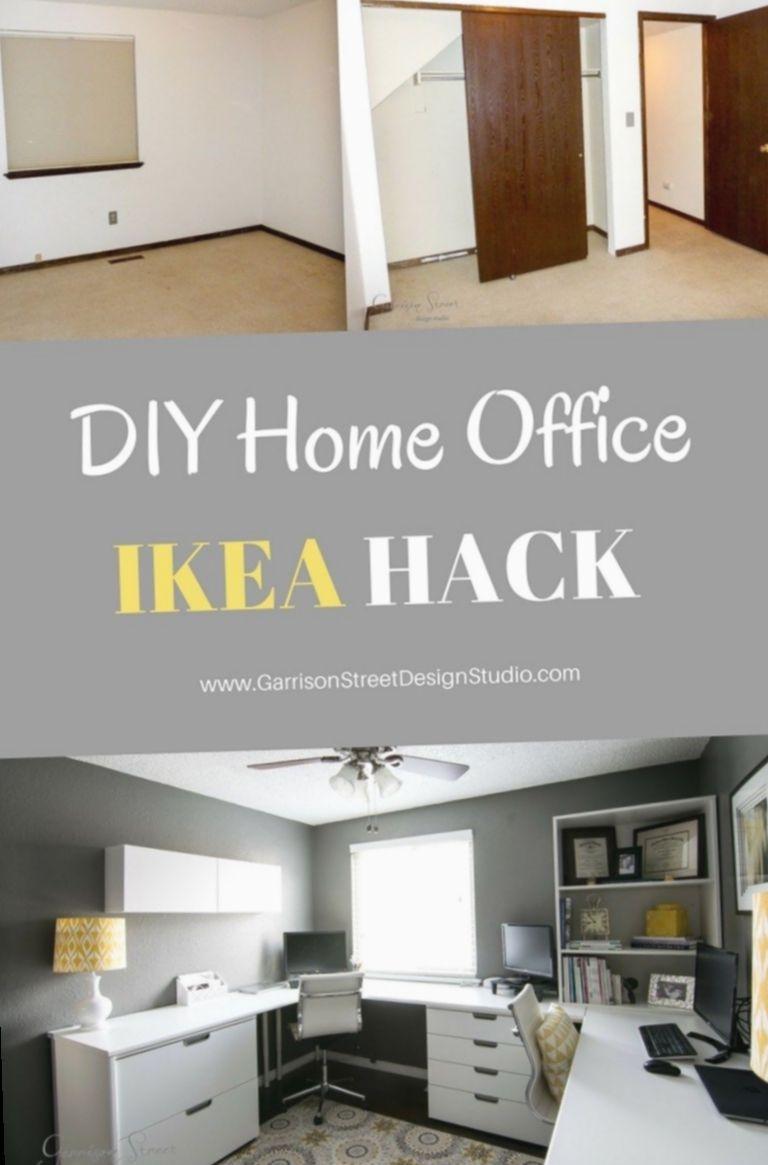 21+ Office Design Creative Ikea Hacks, #Creative #Design #Hacks
