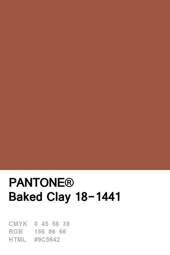 Summer Colour Trends 2018 Terracotta Pantone Colour