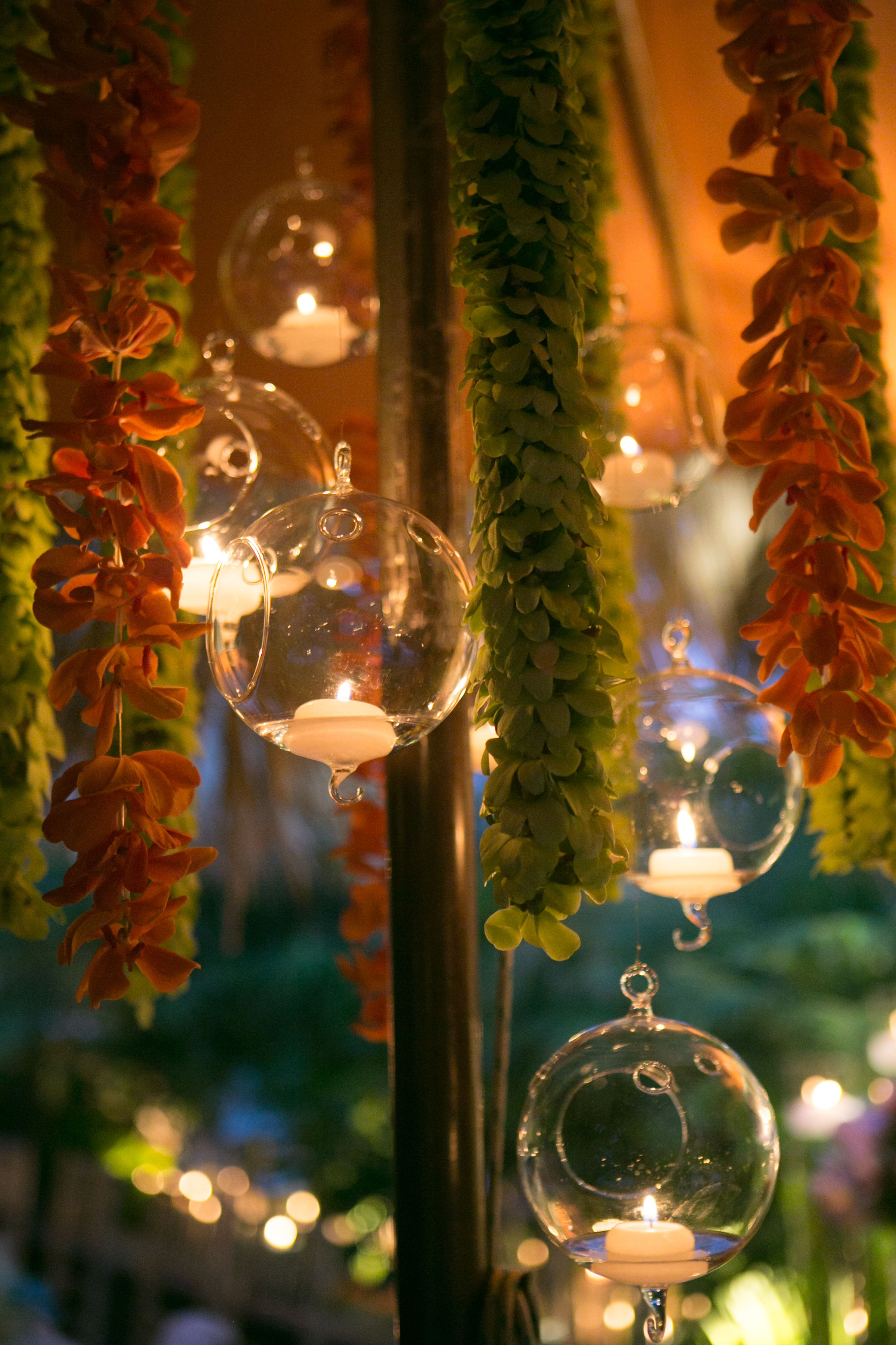 Hanging lights wedding decor  Beautiful Tea Lights  Weddings  Pinterest  Themed weddings and