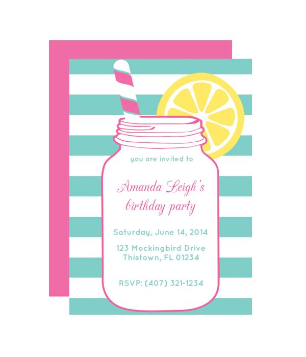 Mason Jar Party Invitation