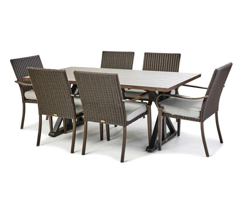 broyhill 7 piece outdoor dining set