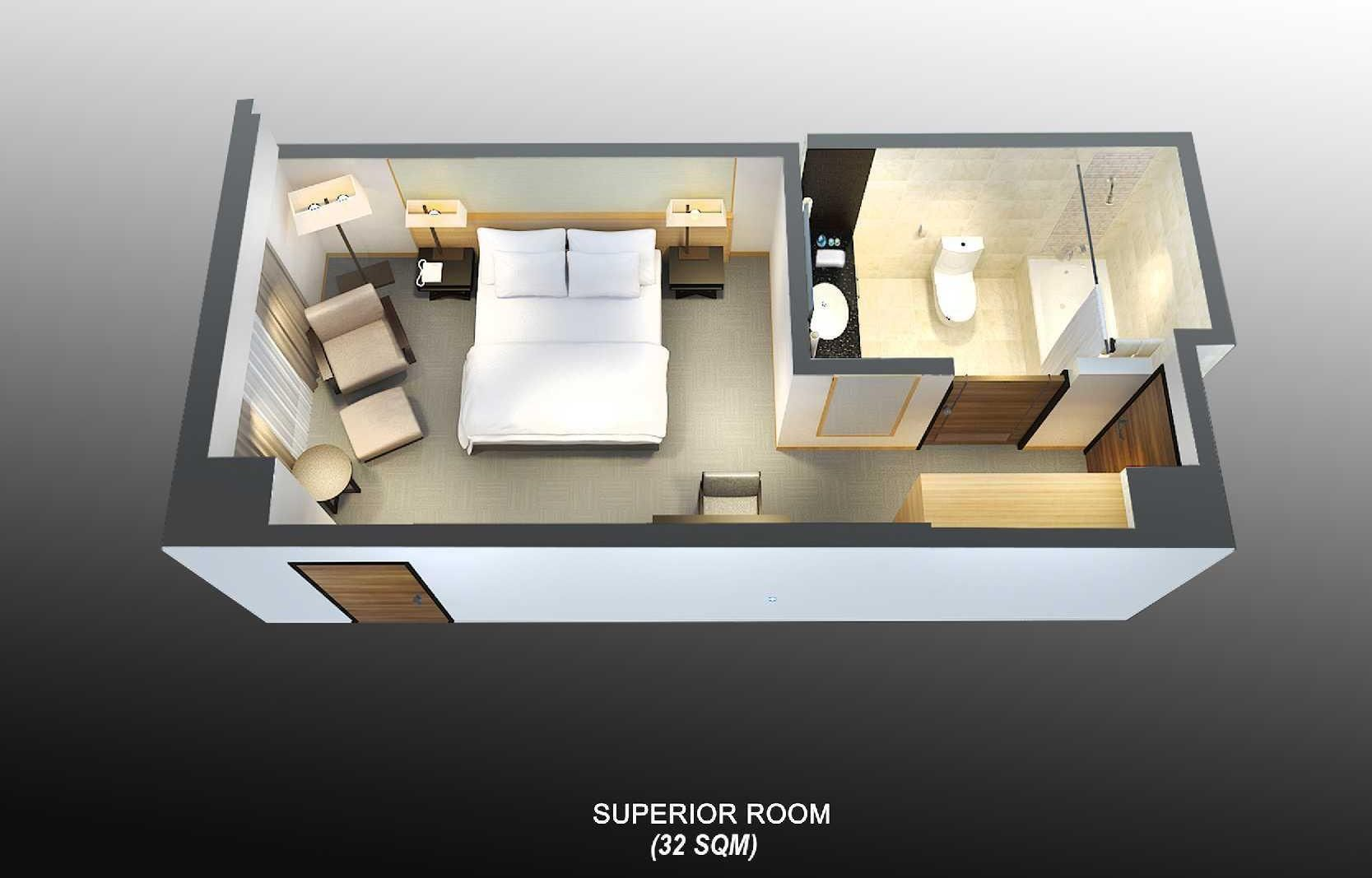 Grand Mercure Singapore Roxy Standard Room 32 Sqm Hotel Room Plan Small Hotel Room Small Apartment Floor Plans