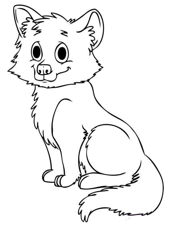 Cute Baby Wolf Coloring Pages Fox Coloring Page Animal Coloring