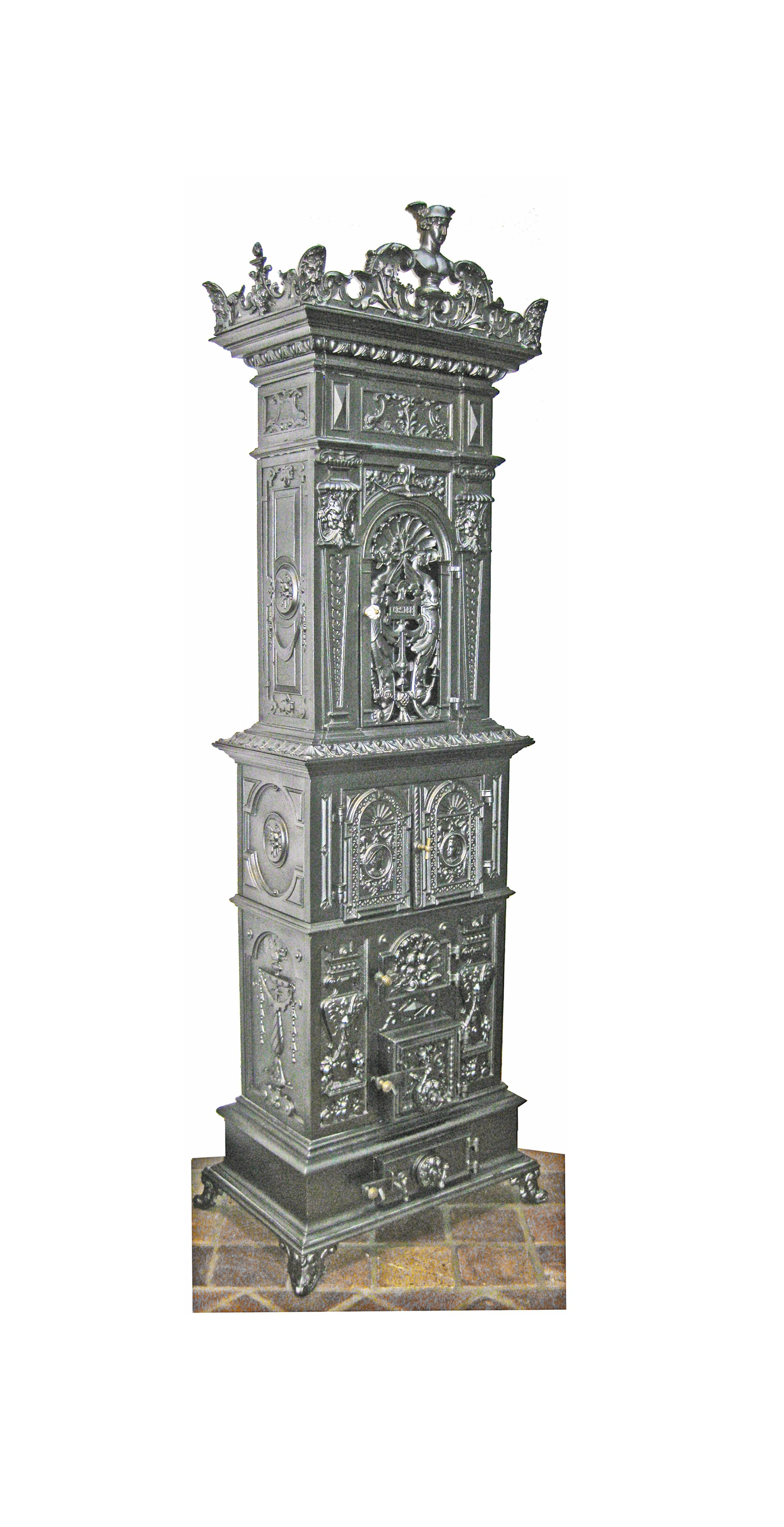 Antikofen Mit Hermesfigur In Der Kunstguss Krone Antik Antike