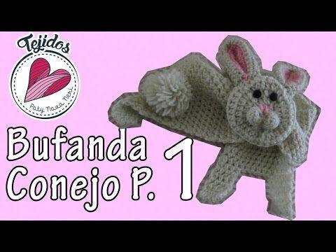 Bufanda de conejo | Parte (1/3) TUTORIAL - YouTube