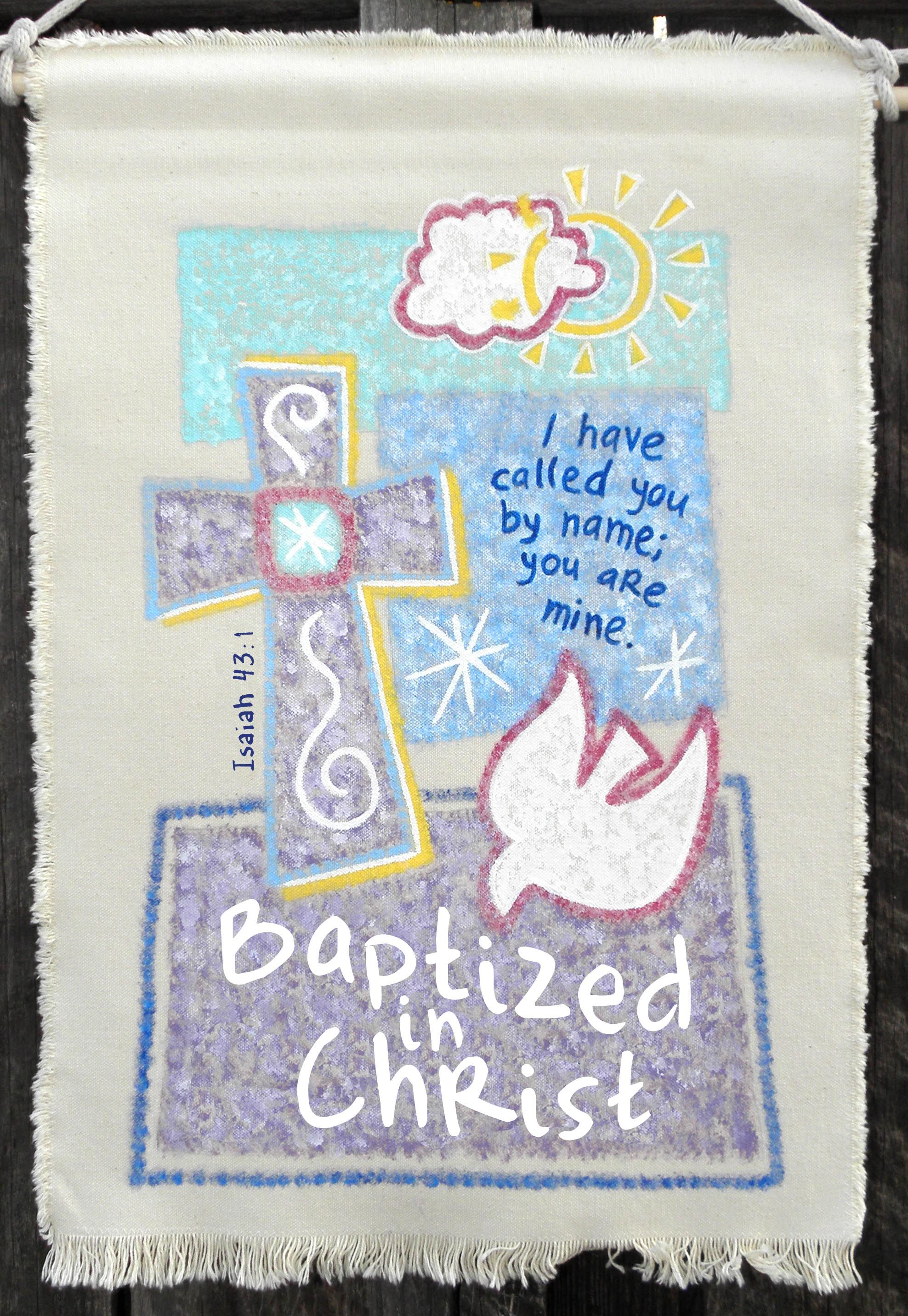 Beautiful Large Baptism Banner From Glorybebanners