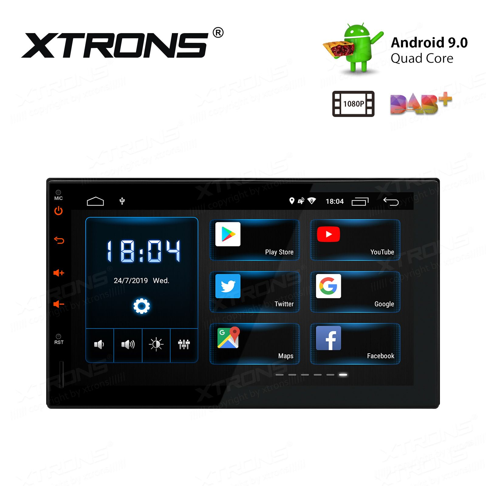 Double DIN Android 9.0 TS709L Android car stereo