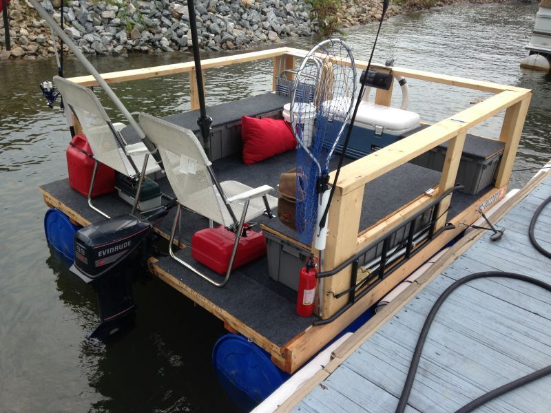 Homemade Mini Pontoon Boat | www.pixshark.com - Images Galleries With A Bite!