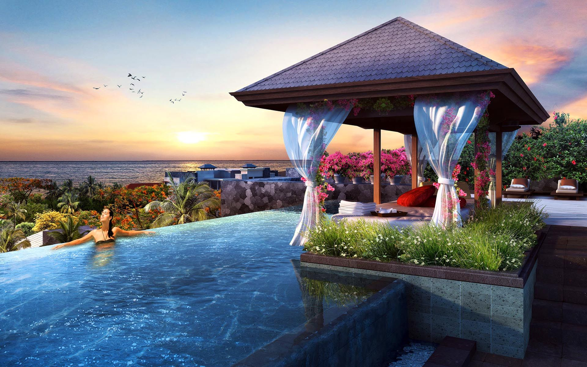 beautiful resorts in bali travel wallpaper | best place in the world