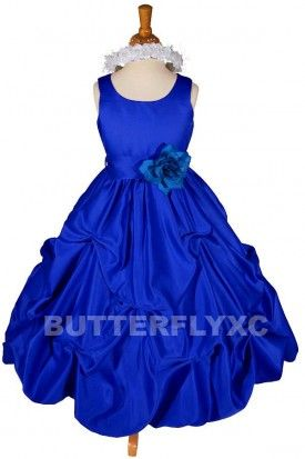 9900585e5 Royal Blue Flower Girl Dress | Wedding Ideas | Blue wedding dresses ...