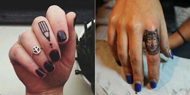 Tatuaż Na Palcu Tattoo Wytatuowane Kobiety Tatuaże I Tatuaż
