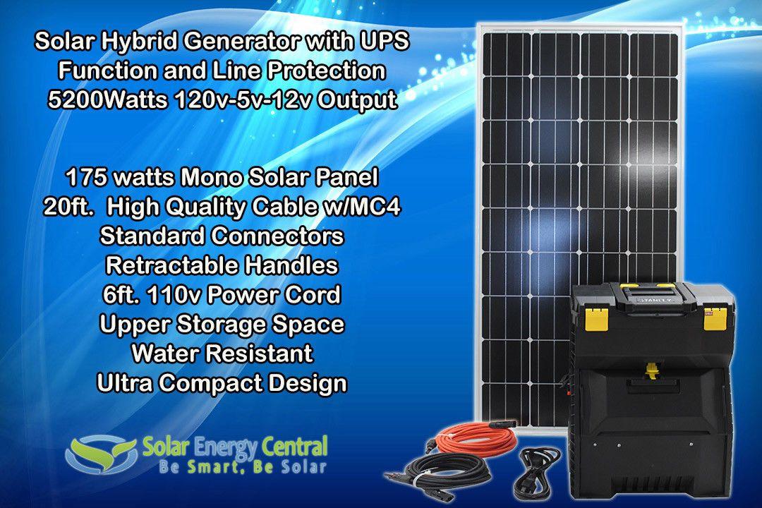 5200watts Solar Hybrid Generator Emergency Ups Power Solar Panel Solar Panels Solar Panel Cost Solar