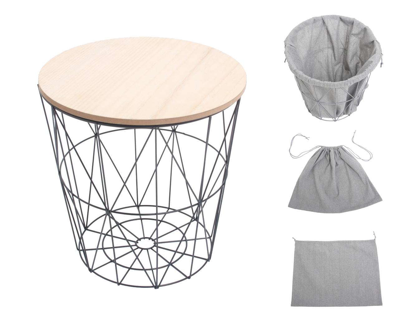 Deze multifunctionele design mand bijzettafel is gemaakt van ijzer en heeft een stevige houten - Koffietafel gesmeed ijzer ...