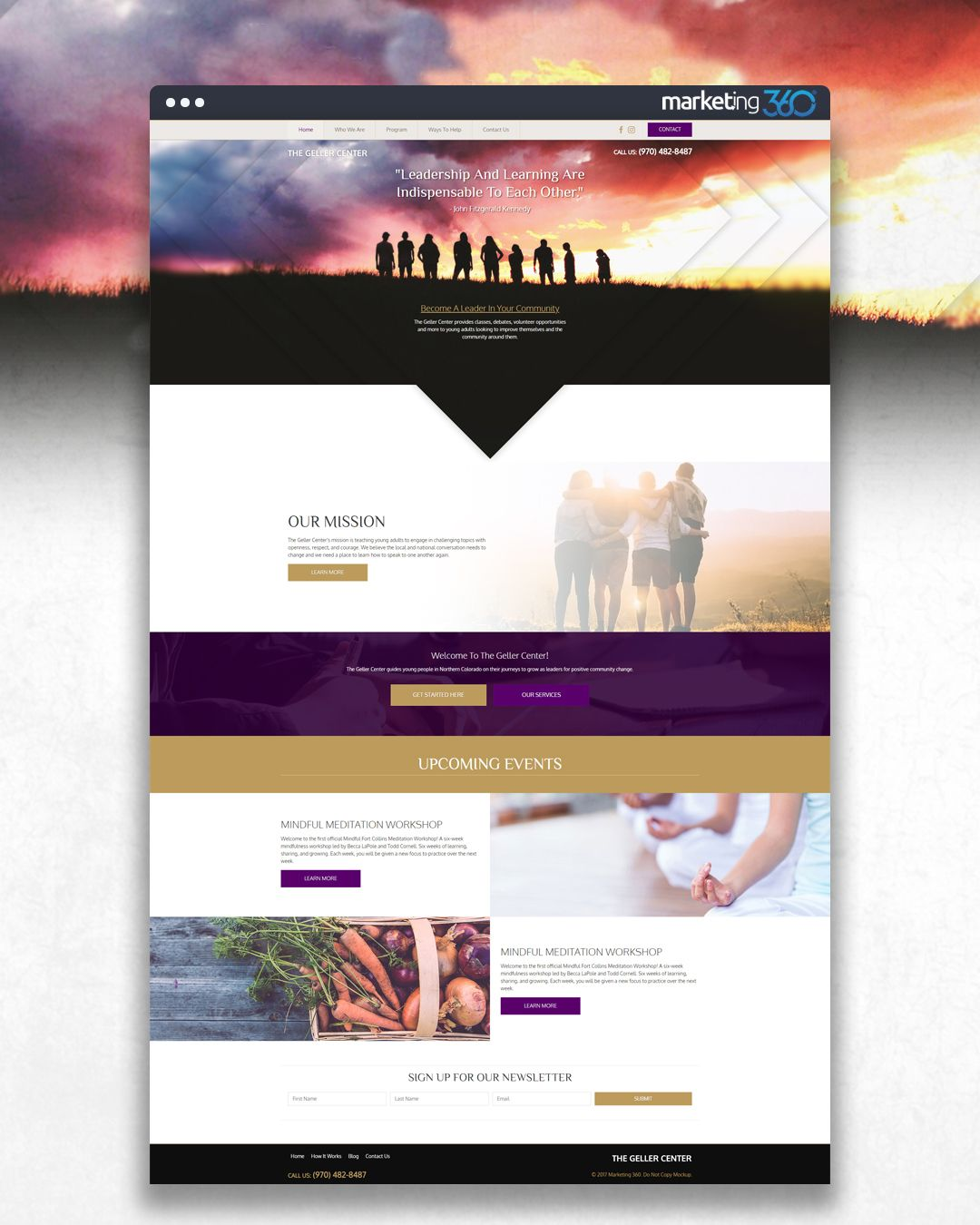 Website for young adults