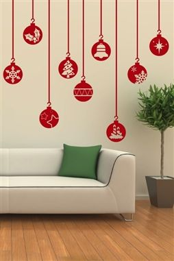 Christmas Wall Decorations Home Design - Christmas wall decals removable