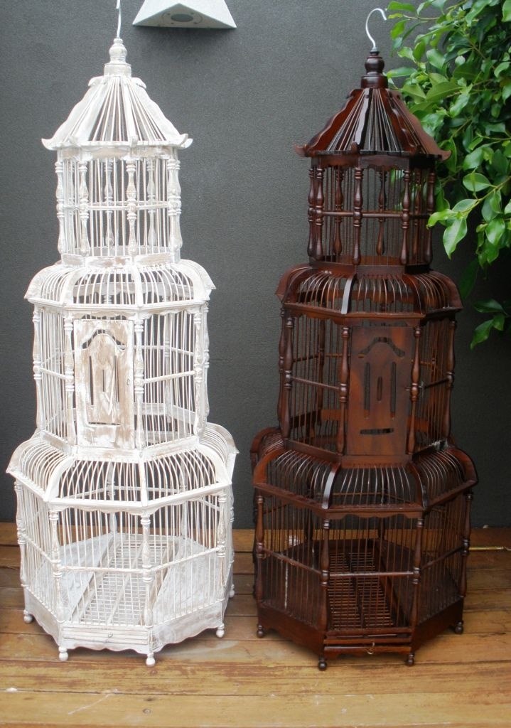 Castlesun Birdcage Large Decorative Pagoda Style Bamboo Birdcage Large 110cm X 44cm X 44cm Pick Up Only Bird Cage Decor Large Bird Cages Bird Cage