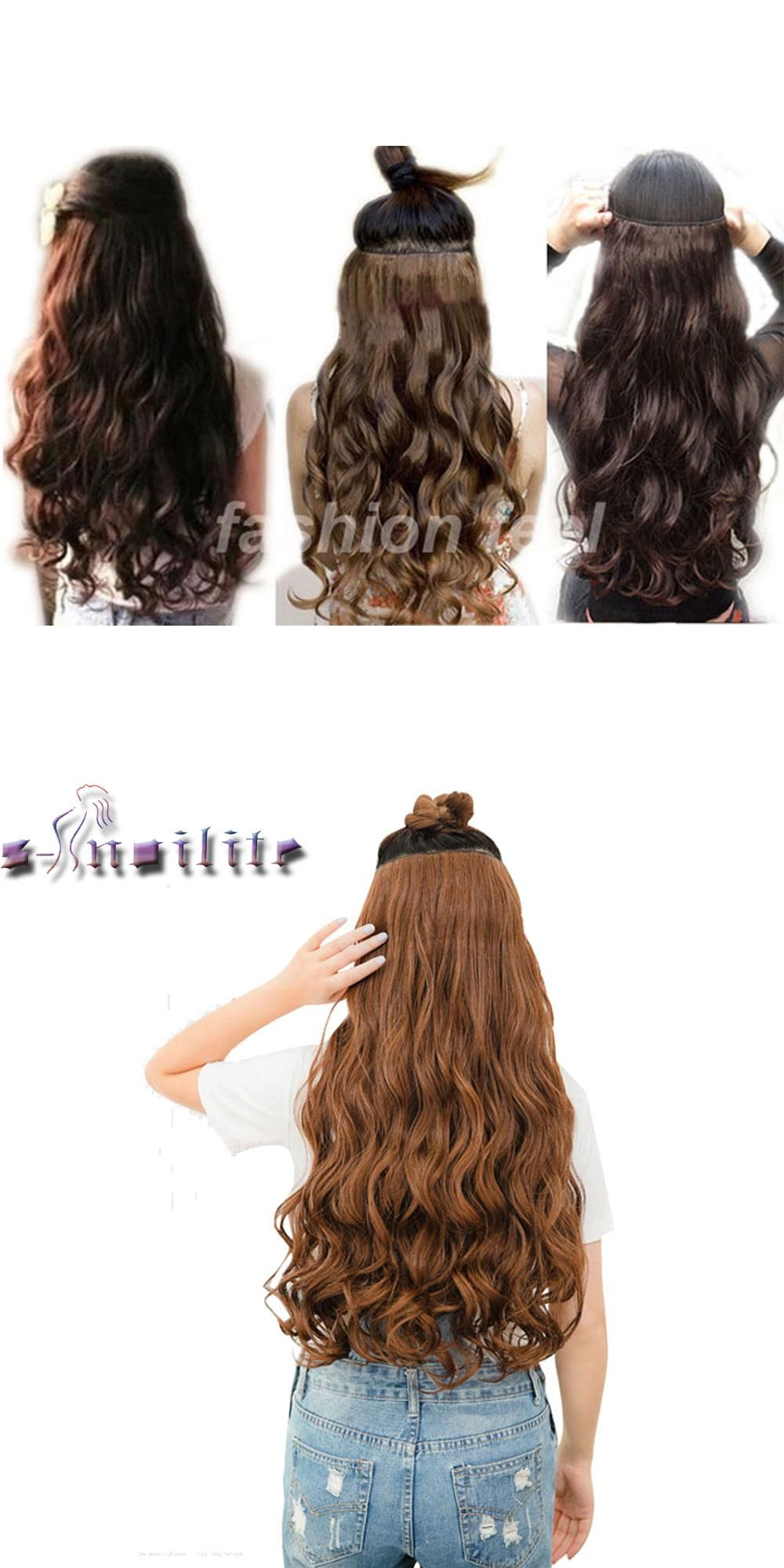 Us Stock Long Clip In Hair Extension Half Full Head 100 Real