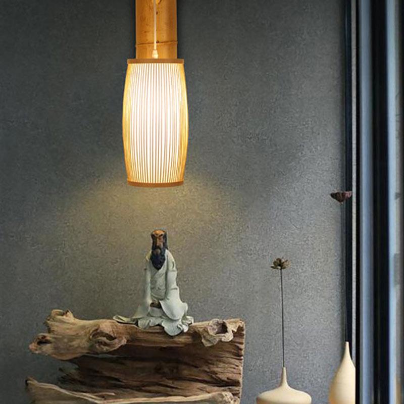 Klassische Wandleuchte aus Holz 1 flammig für Schlafzimmer