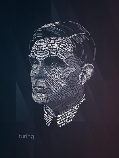 Alan Turing Typography Quotes' Art Print - Lynx Art Collection | Art.com in  2021 | Art prints quotes, Alan turing, Science artwork
