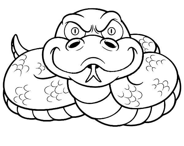 Anaconda Vicious Anaconda Coloring Page Sewing Embr Line Art