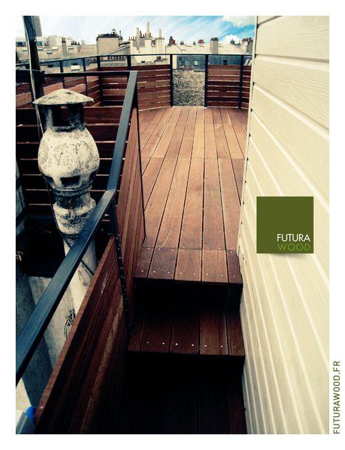 Terrasse en bois sur toit parisien wwwfuturawoodfr deco
