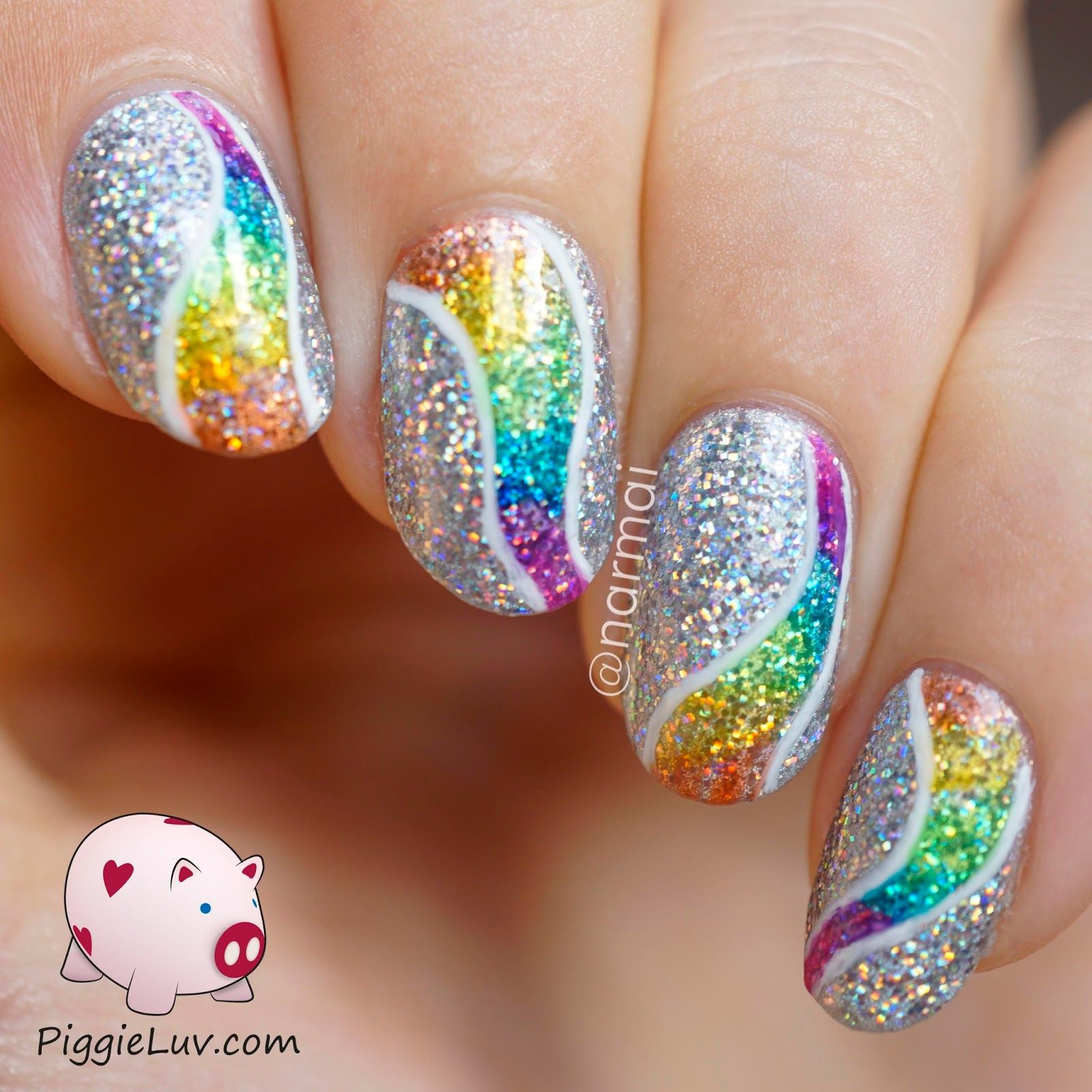 Colorful Nail Art: Glitter Tornado Nail Art With OPI Color Paints