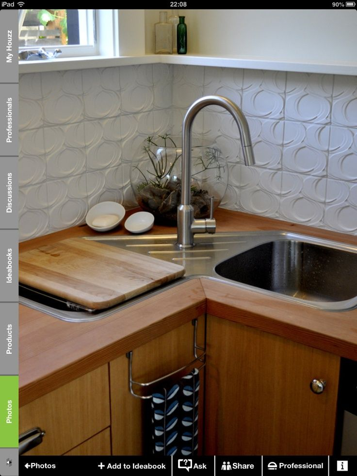 resultado de imagen para tarjas de cocina esquinera