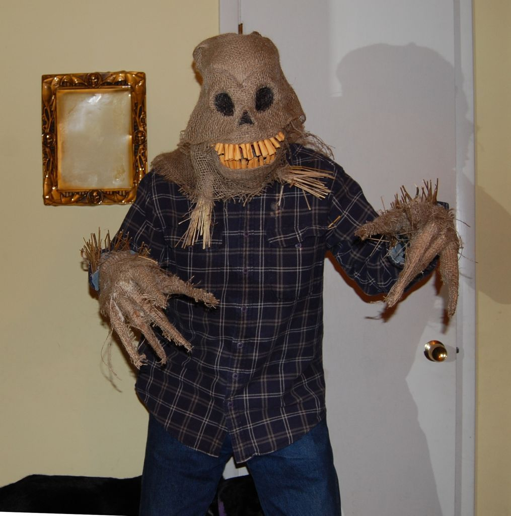 How to Make a Scary Scarecrow Mask (With Moveable Jaw