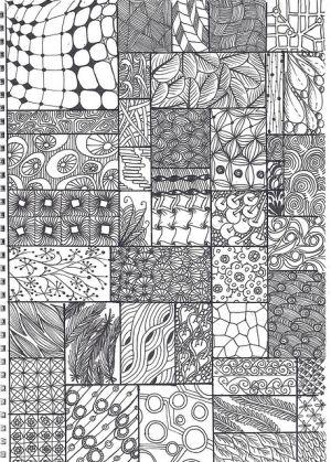 doodle - zentangle pattern sheet by krochetokikai