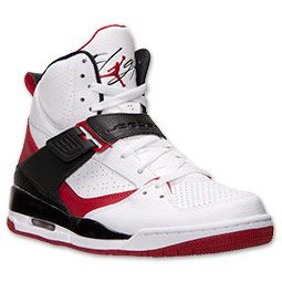 big sale cc91e 8ac8f Men s Jordan Flight 45 High Basketball Shoes   FinishLine.com   White Gym  Red Black