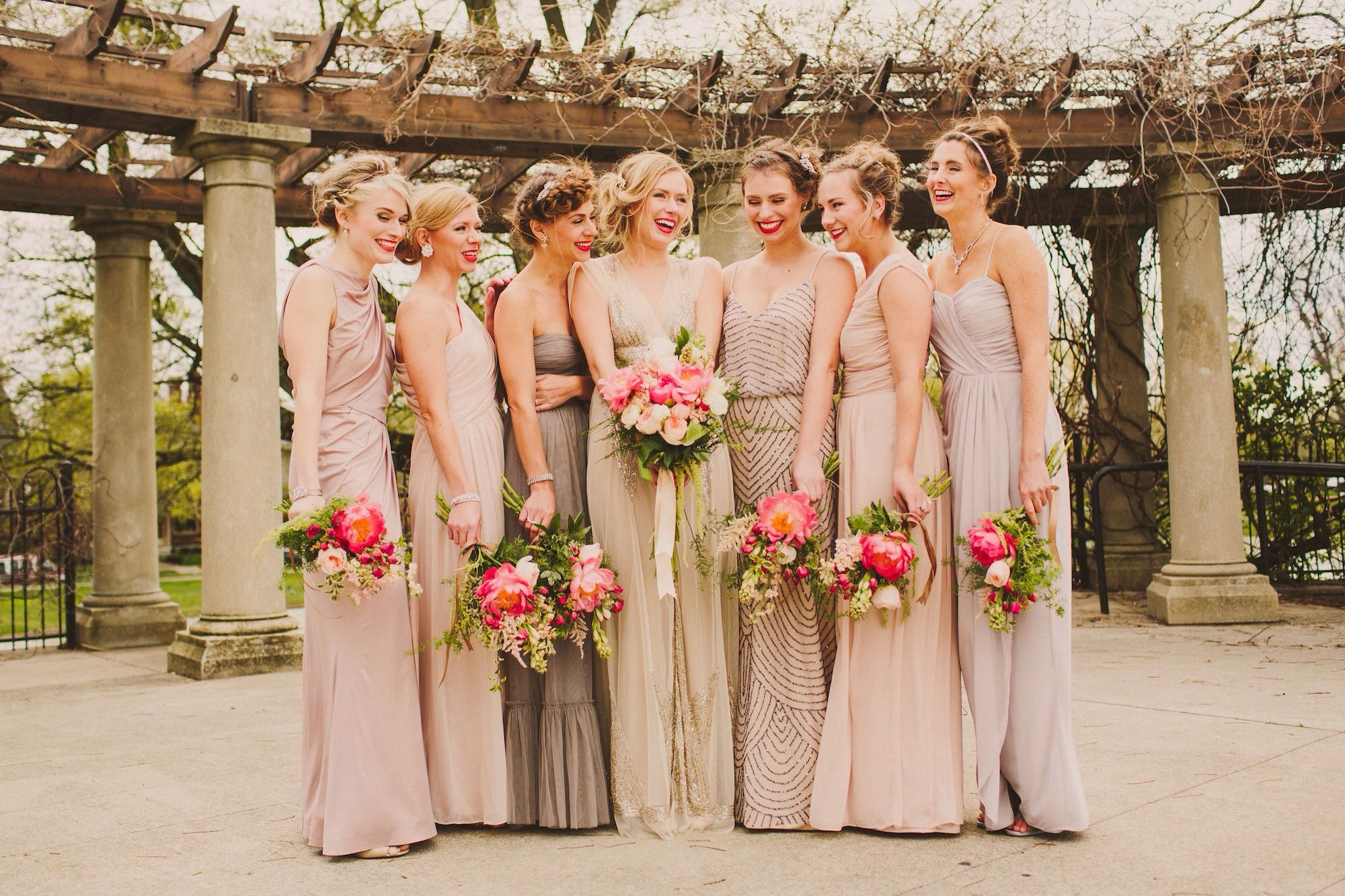 Nude bridesmaid dresses bridesmaids and groomsmen pinterest nude bridesmaid dresses ombrellifo Image collections