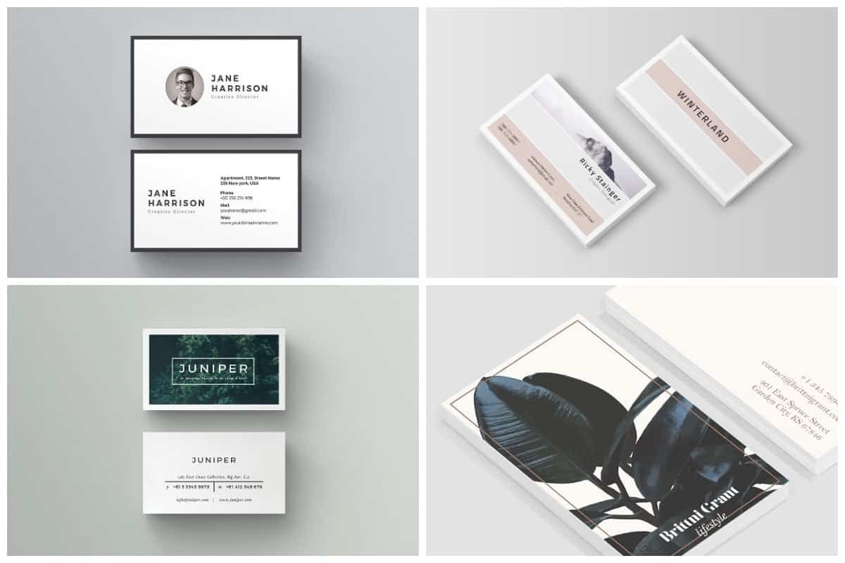 20 Free Business Card Templates Inspirationfeed Regarding Hvac Business Card Te In 2020 Free Business Card Templates Business Card Design Minimal Free Business Cards