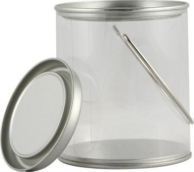Mini Clear Plastic Paint Cans W Lids Amp Handles 180 Case
