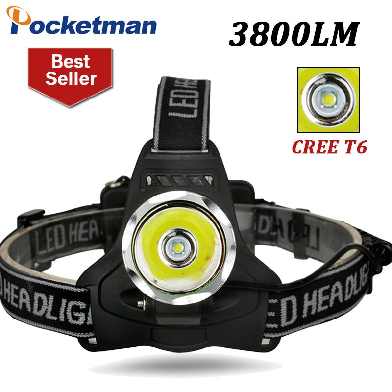 Led Headlight 3800lm Xm L T6 High Power Led Head Torch Front Lampe
