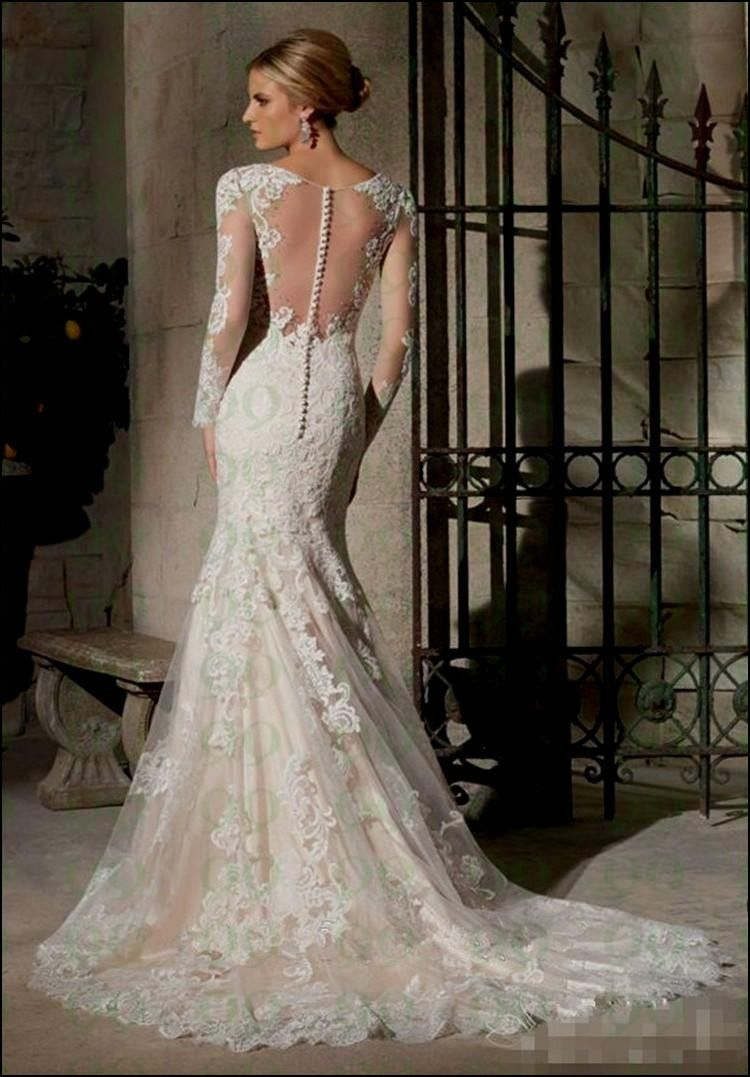 Lace Wedding Dress with buttons Down Back | Wedding Ideas ...