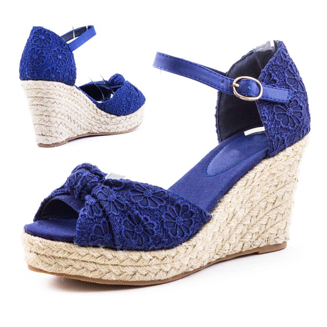 Neu Damen Keilabsatz Plateau Sommer Sandalen Wedges Schuhe Gr 36 37