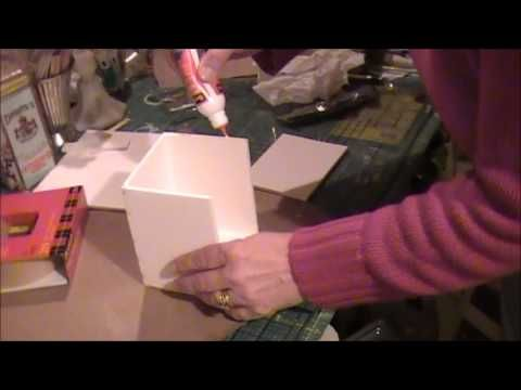 Tutorial Making A Box With Hinged Lid From Foam Core Foam Board Crafts Craft Organization Diy Ink Pad Storage