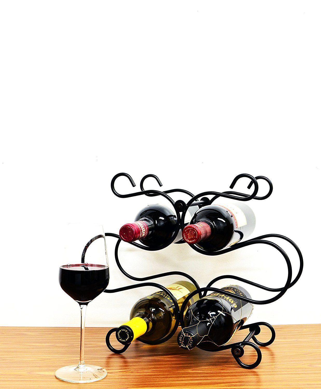 Superiore Livello Florence Metal 6 Bottle Countertop Wine Holder