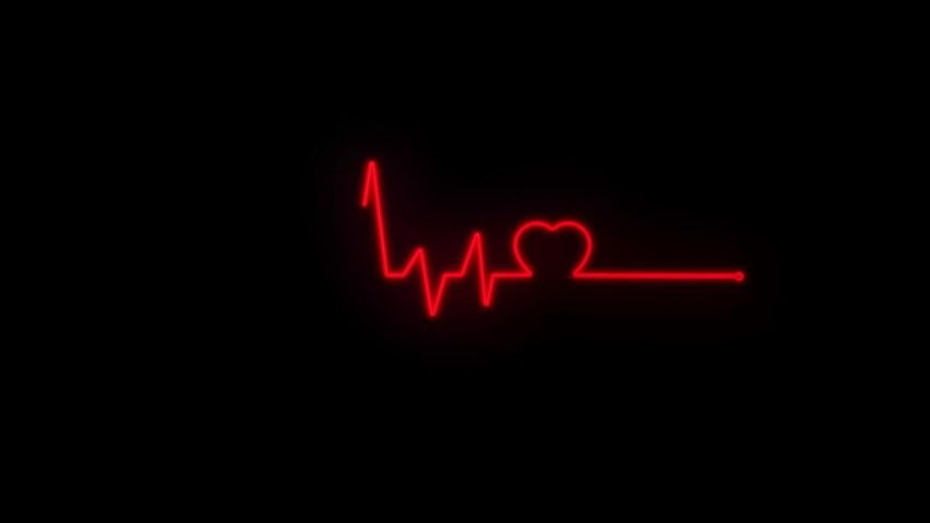 Abstract Seamless Line Heart Beat. Stock Footage Video (100% Royalty-free) 1059247376   Shutterstock