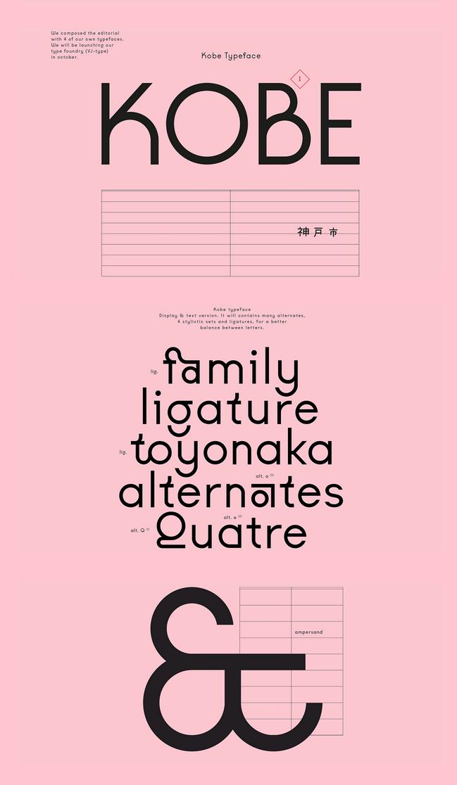 Kobe — VJ-type   Typography   Typography design, Types of