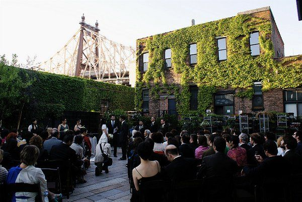 It Almost Feels Like An Indoor Space With The Building Facades But It Certainly Wins As An Outdoor Sp Long Island City Wedding Venues Waterfront Wedding Venue