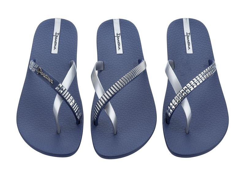"Ipanema Premium ""Pair of 3"" thong - blue/silver"