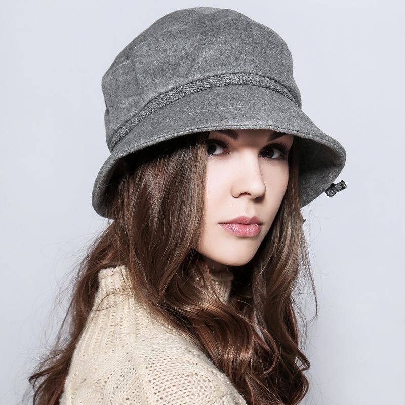 a340f0a3f6c Fashion bucket hat flower decoration winter hats for women