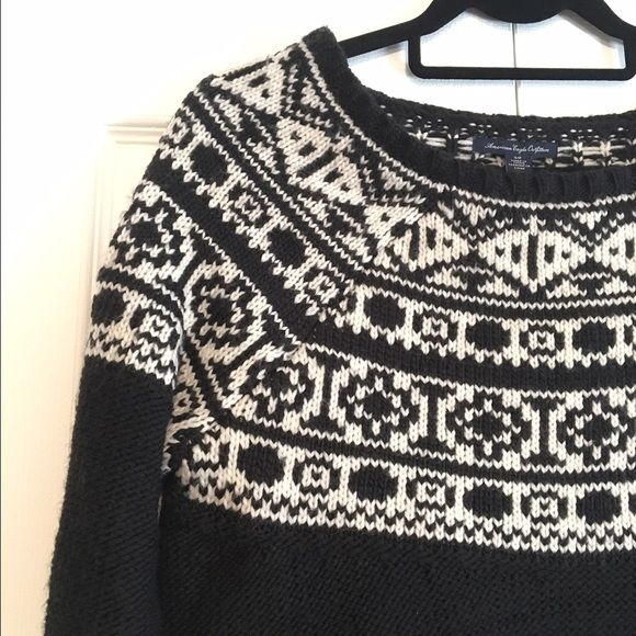 AEO Boatneck Sweater Stylish and warm sweater! Adorable pattern ...