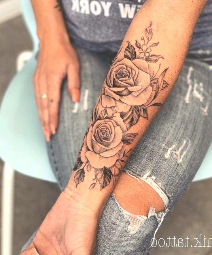 Unterarm frau blumen tattoo Tattoo unterarm