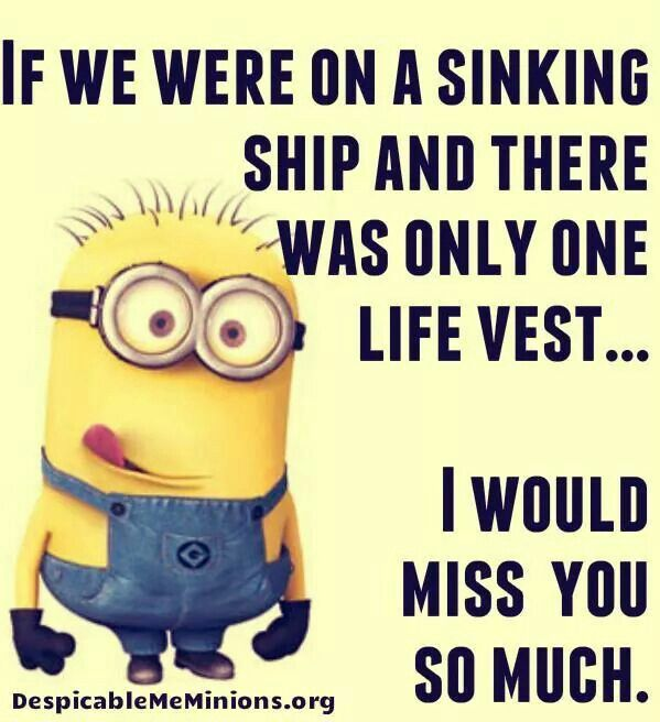 Charming Best 50 Minions Humor Quotes. I Miss You MemesFunny ...